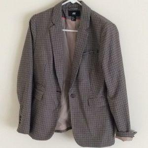 New Plaid Blazer Jacket